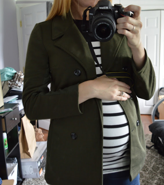41 Hawthorne - Londyn Double Breasted Notch Collar Peacoat Maternity Stitch Fix Review