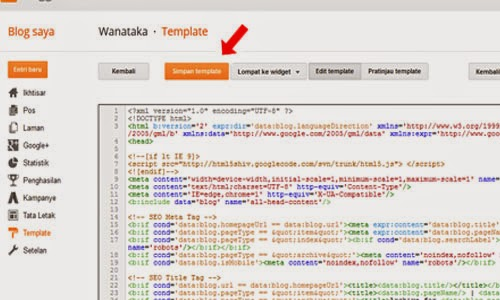 Cara Mengganti Template Blogger Tutorial