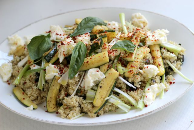 Sommergerichte Zucchini : Funnypilgrim: rezept: quinoa salat mit mozzarella und zucchini