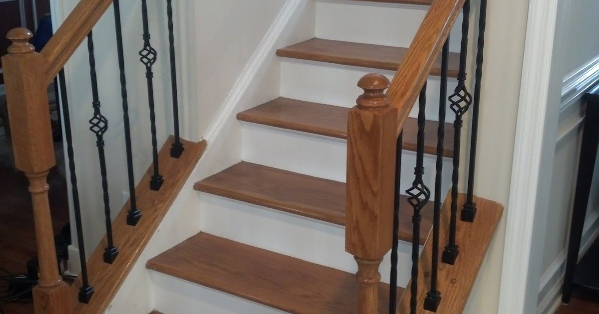 Road To The Ravenna Diy Iron Baluster Upgrade Angled