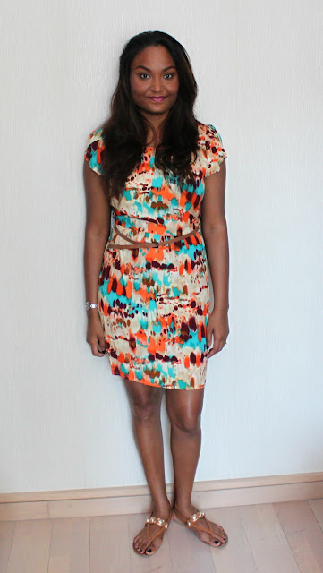 A BRIGHT AND BOLD POLKA DOTTED DRESS