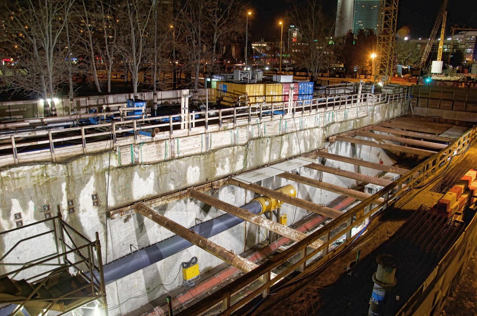 Baustelle Erweiterung der U-Bahn Line 5, Am Roten Rathaus, Rathausstraße, 10178 Berlin, 08.01.2014