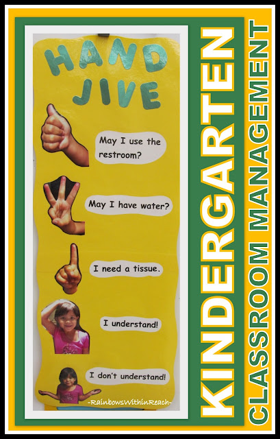 """Hand Jive"" Kindergarten Chart for Behavior Management via RainbowsWithinReach"