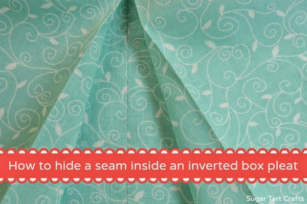 How to hide a seam inside an inverted box pleat.