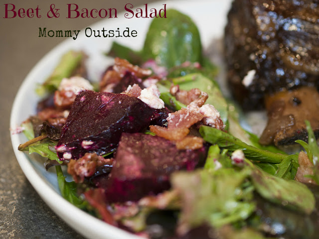 Beef and bacon salad