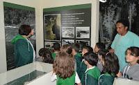 Na Casa da Memória, os alunos também visitaram a exposição sobre o Rio Paquequer