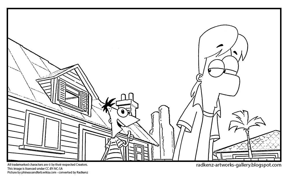 Ferb as Jeremy Coloring Page