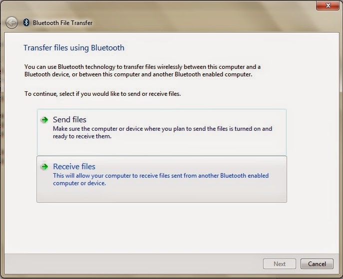 how to send files from pc to android via bluetooth