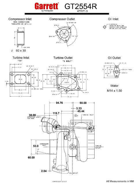 garrett gt25r - gt2554r - 60 trim