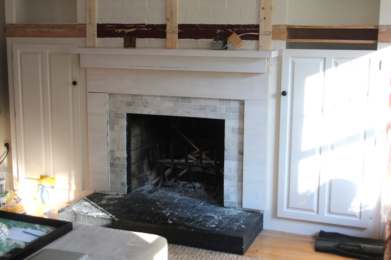 fa la la fireplace remodel in progress shine your light