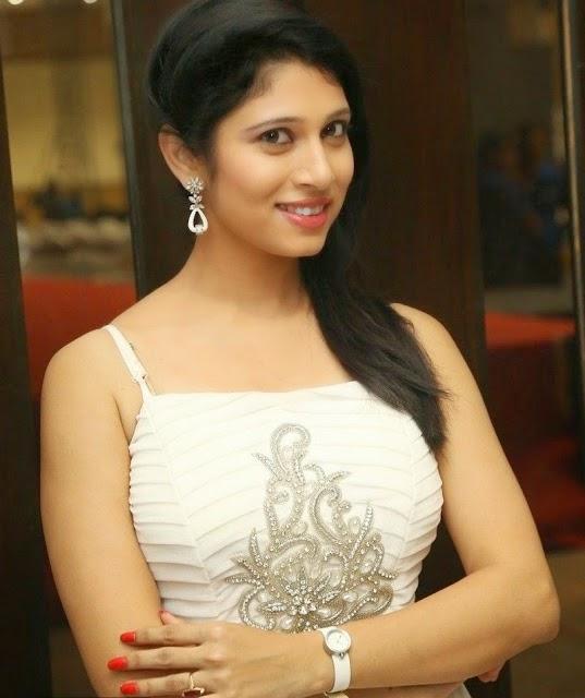Actress Vanditha Spicy Photos in White Dress