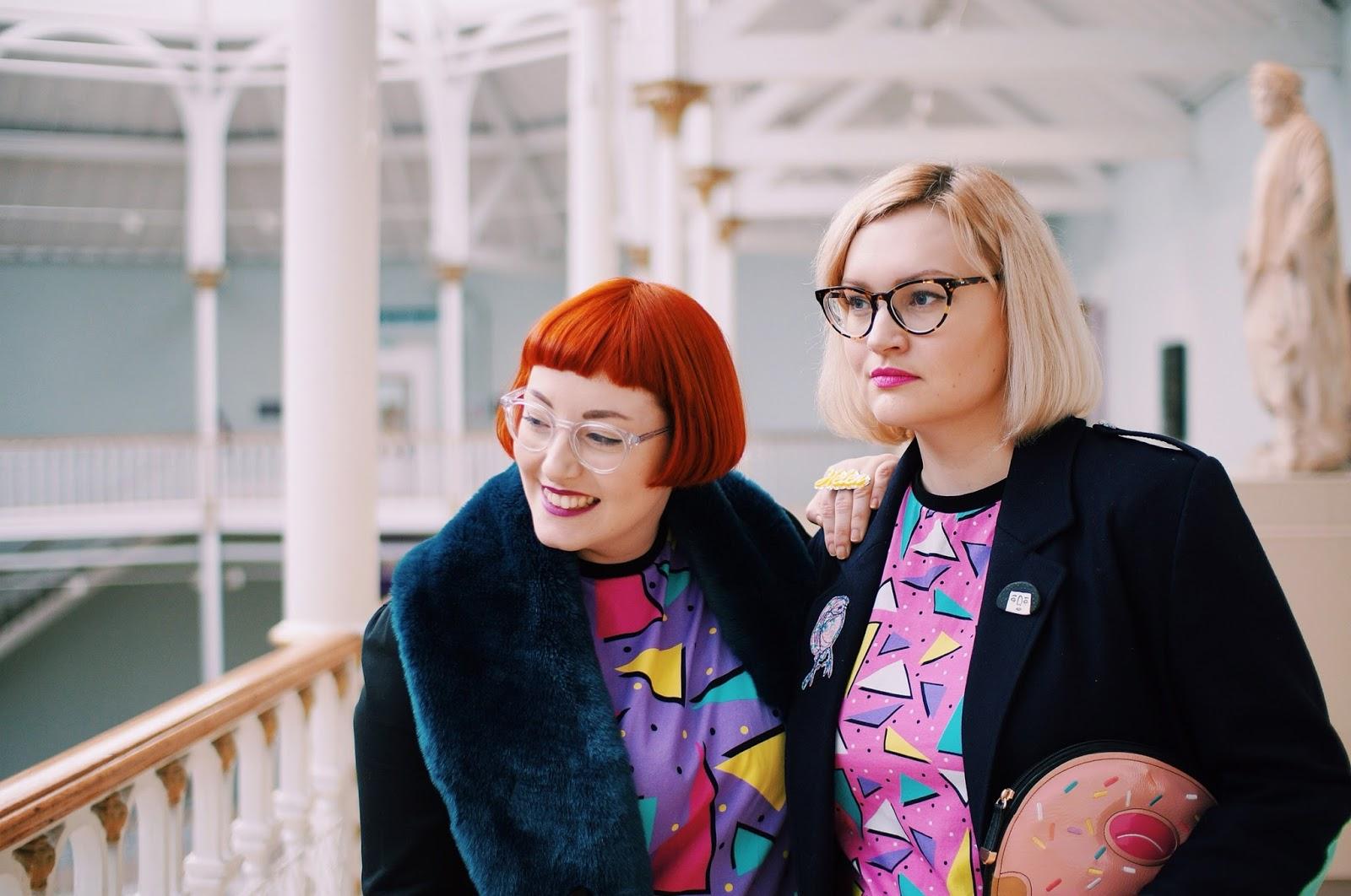 Helen and Kimberley, Wardrobe Conversations, Boya Shen, moveit video project, YouTube, National Museum of Scotland, photoshoot, Scottish bloggers,