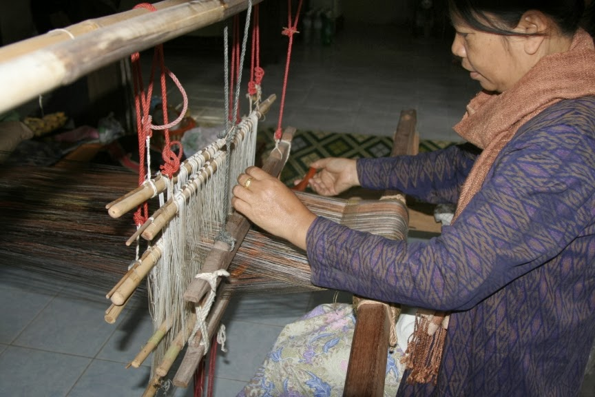 Silk weaving requires care and skills that this Thai weaver has honed since she sat at the loom at her mother's side as a young girl.