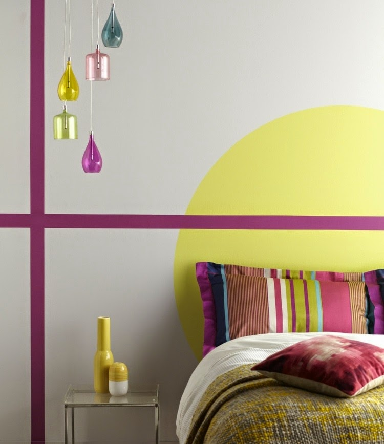 wall paint color ideas decorated walls with colour patterns - Color Pattern For Walls