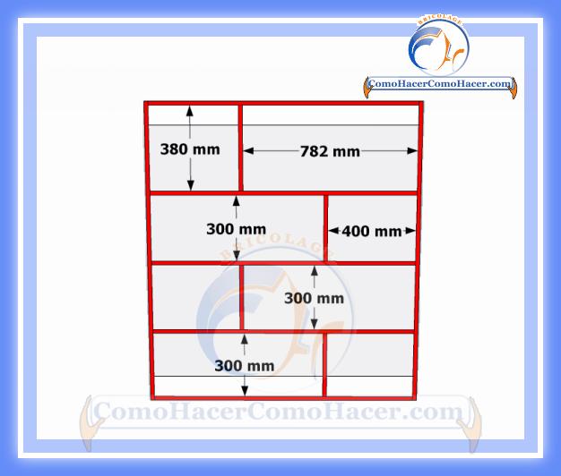 Brico diy plano mueble de melamina estante librero web for Planos de muebles en melamina pdf gratis