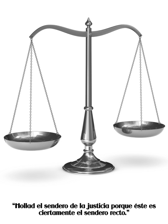 Virtudes para nios Balanza de Justicia