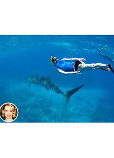 Inilah 5 Selebriti Ini Berani Berenang Bareng Hiu - http://lintas-indo.blogspot.com