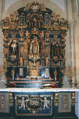 Parroquia de la Virgen del Carmen de Salinas, retablo