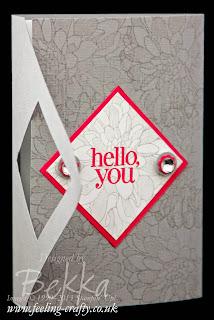 Regarding Dahlias Fancy Fold Card by UK based Stampin' Up! Demonstrator Bekka - check out her blog here