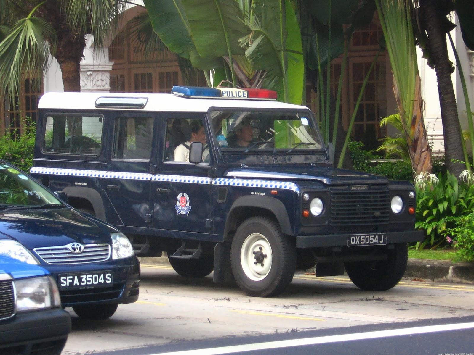 Singapore Police Car Models Land Rover Defender Lwb 110