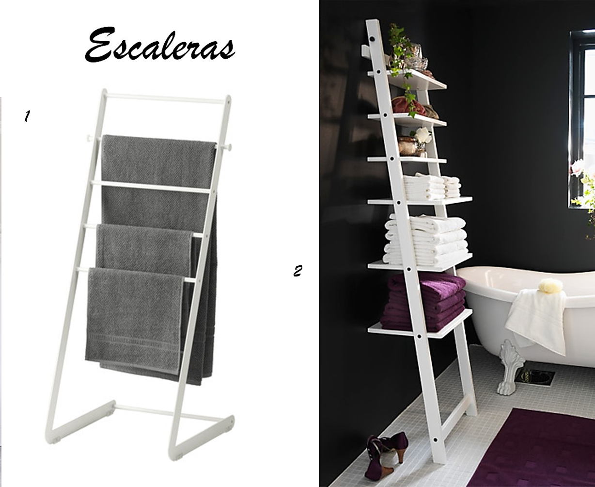 Decoraci n f cil ideas para organizar el cuarto de ba o for Escaleras de madera decoracion ikea