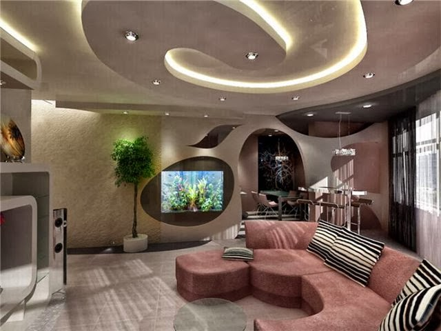 Top 10 catalog of modern false ceiling designs for living for Staff plafond moderne