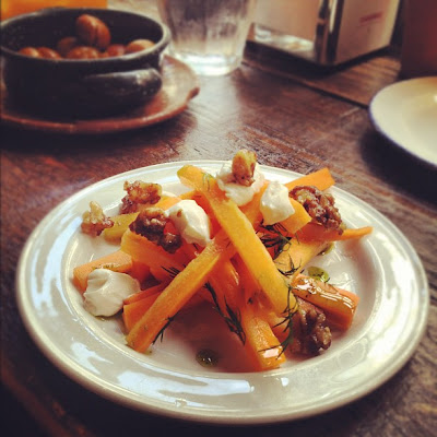 Sweet and sour carrots from Copita tapas bar in Soho