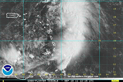 Tropischer Sturm MARIA könnte sich auflösen, bevor er in die Nähe der Dominikanischen Republik gelangt, Maria, Vorhersage Forecast Prognose, Verlauf, Puerto Rico, Kleine Antillen, Dominikanische Republik, Hispaniola, September, Hurrikansaison 2011, Hurrikansaison 2011,