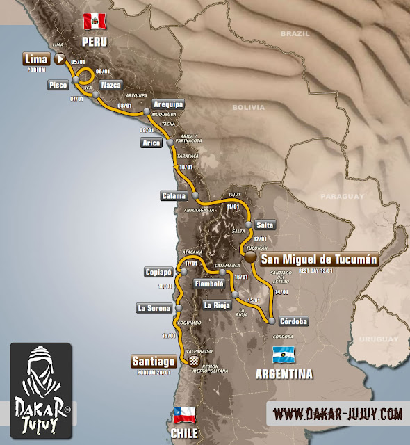 Recorrido Oficial del Rally Dakar 2013, Jujuy