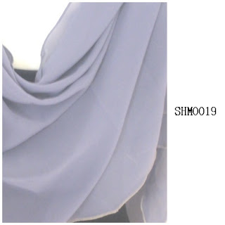 shawl halfmoon plain light grey
