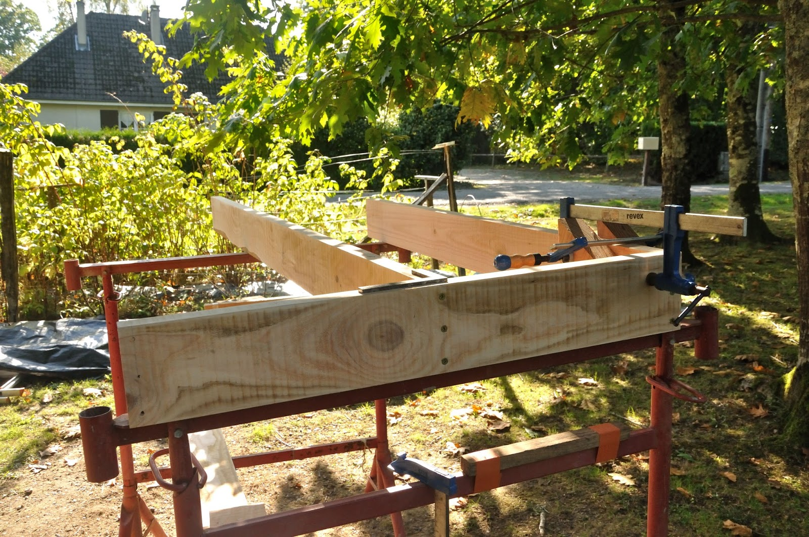 montage structure plancher cabane 1 sketchup la cabane de prout et nonosse. Black Bedroom Furniture Sets. Home Design Ideas
