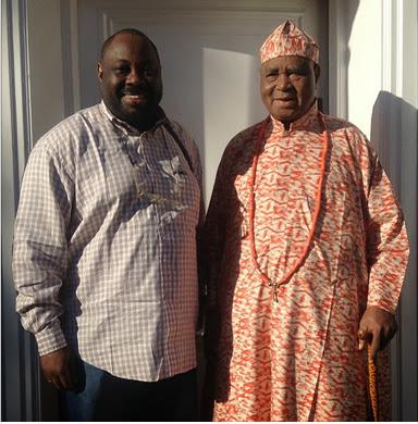 Spotted | Dele Momodu &  Sir Dr. Gabriel Osawaru Igbinedion In London