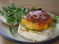 Carrot and Sesame Burgers