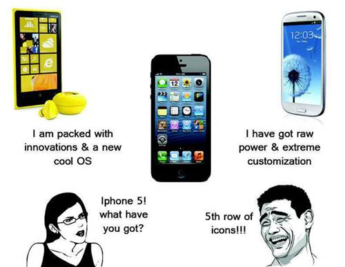APPLE IPHONE 5 LATEST FUNNY MEME QUOTES COMIC PICS - PART -1