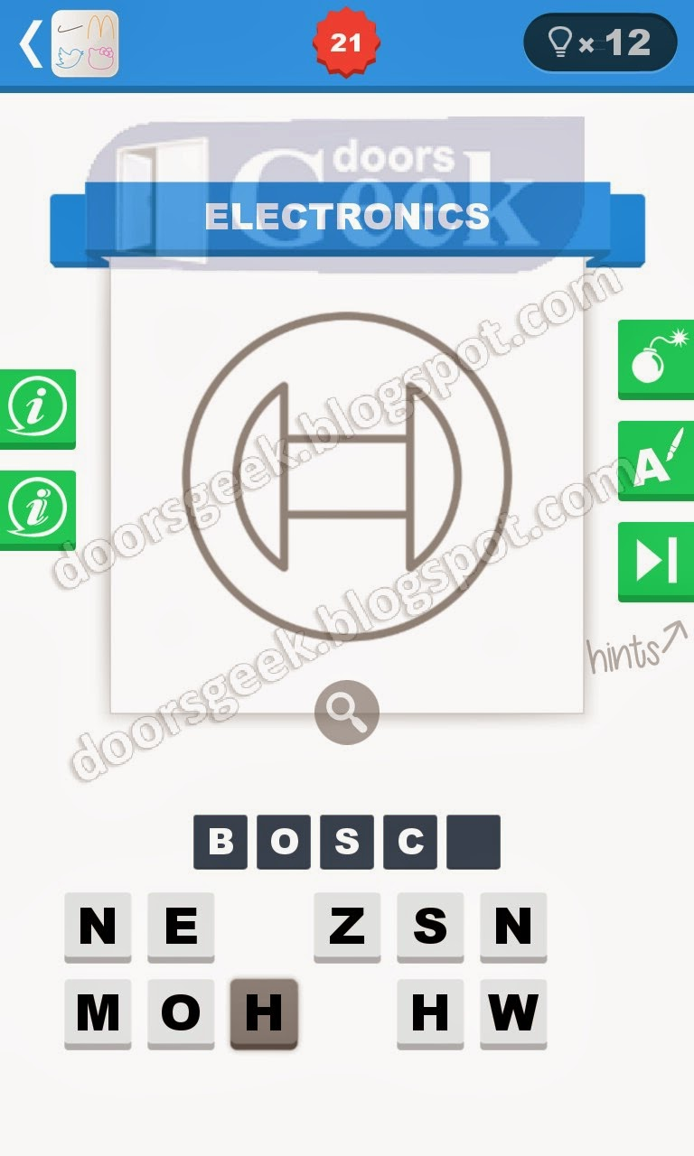 logo quiz minimalist level 21 doors geek