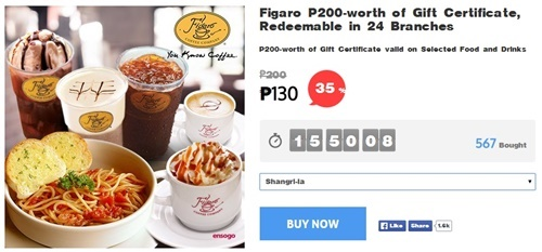 Figaro, food promo, Ensogo-voucher, Ensogo-review, Figaro-coffee, Figaro-voucher, Figaro menu