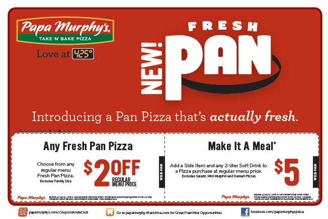 photograph regarding Papa Murphys Coupons Printable named Papa Murphys Printable Coupon codes August 2015