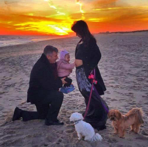 Mini tummy: Hilaria Baldwin is pregnant again