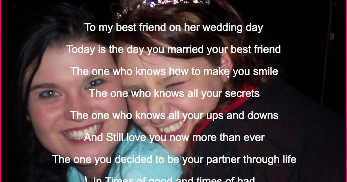 Letter To Your Best Friend On Her Wedding Day