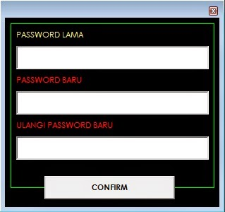 how to change hint for password