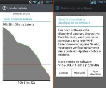 Desempenho e autonomia de bateria do LG Optimus L7