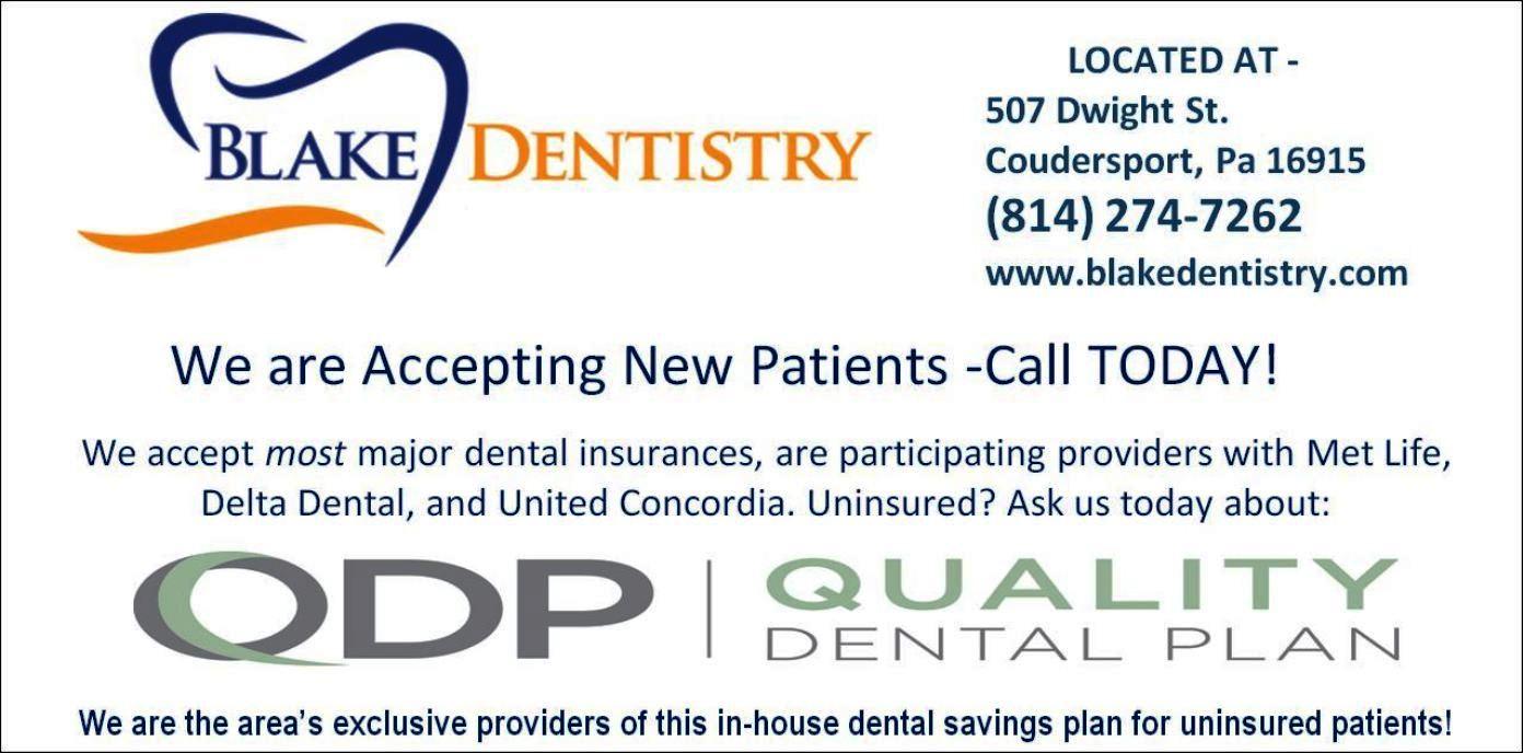 Blake Dentistry Coudersport, PA.