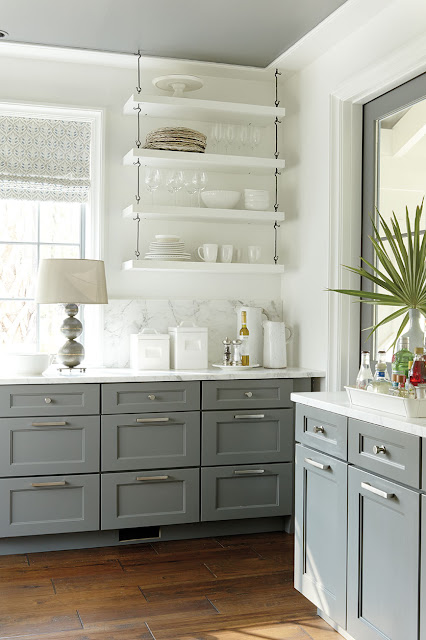 gray base cabinets