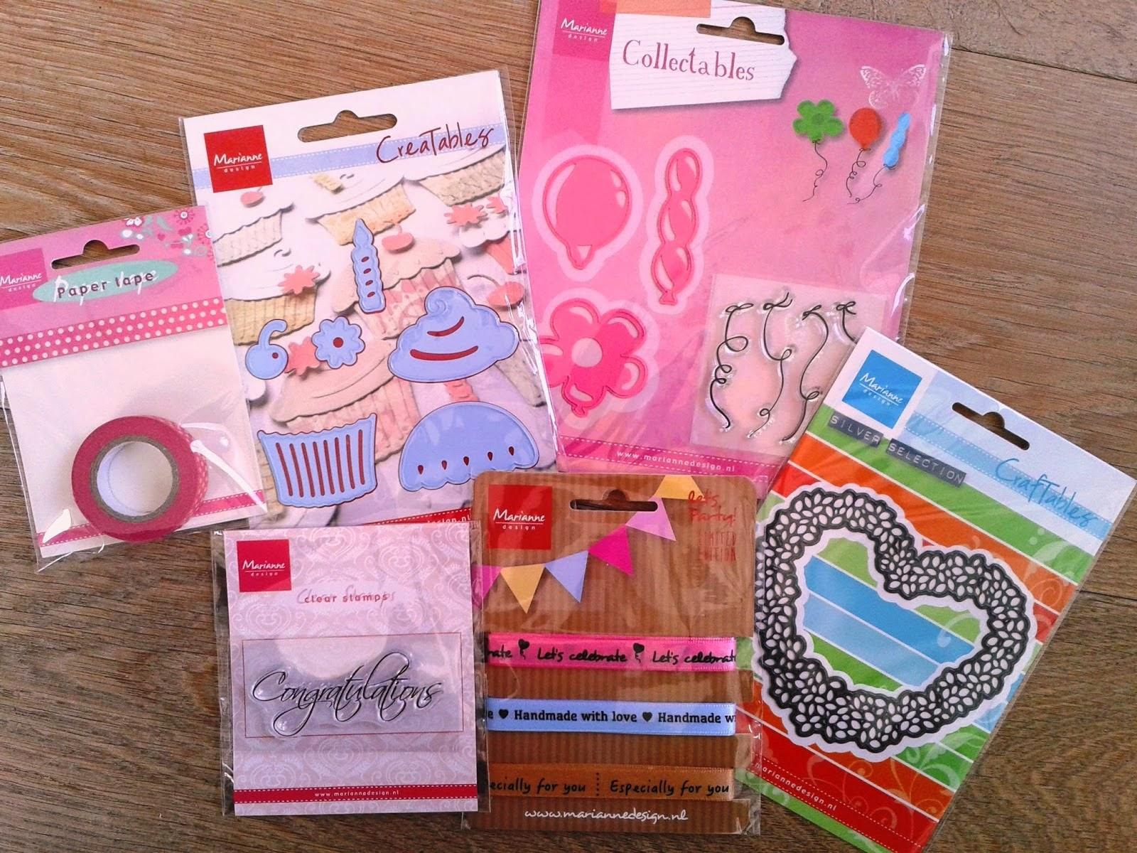 Candy gewonnen bij Marianne Design