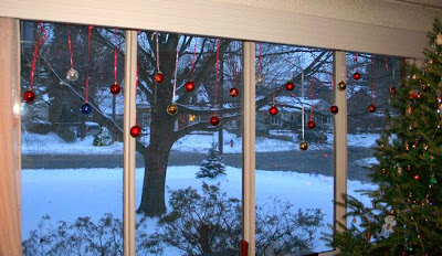 Christmas Ornament curtains :: All Pretty Things