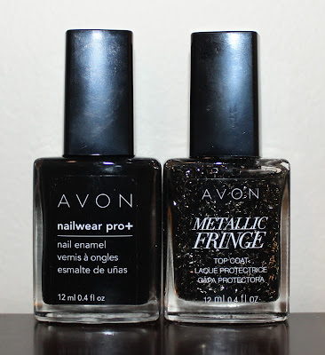 Gothic Black Halloween Nails with Avon