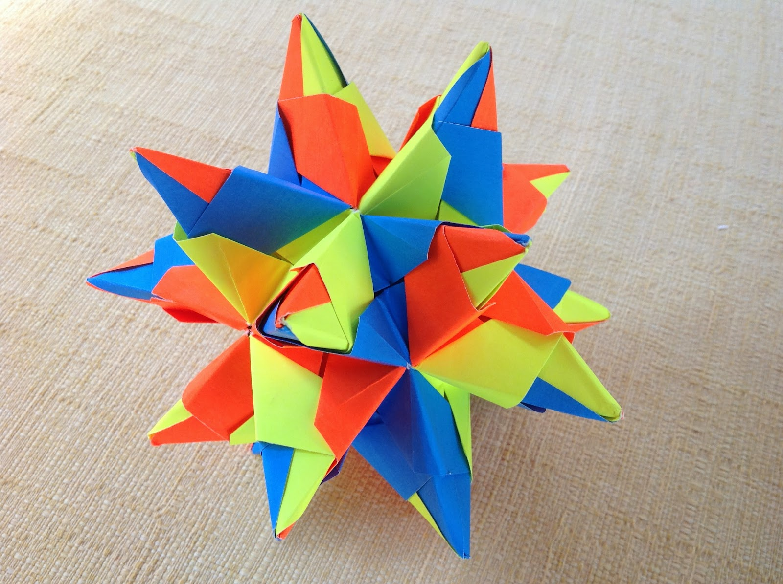 Papercrafts And Other Fun Things Great Stellated Dodecahedron Origami