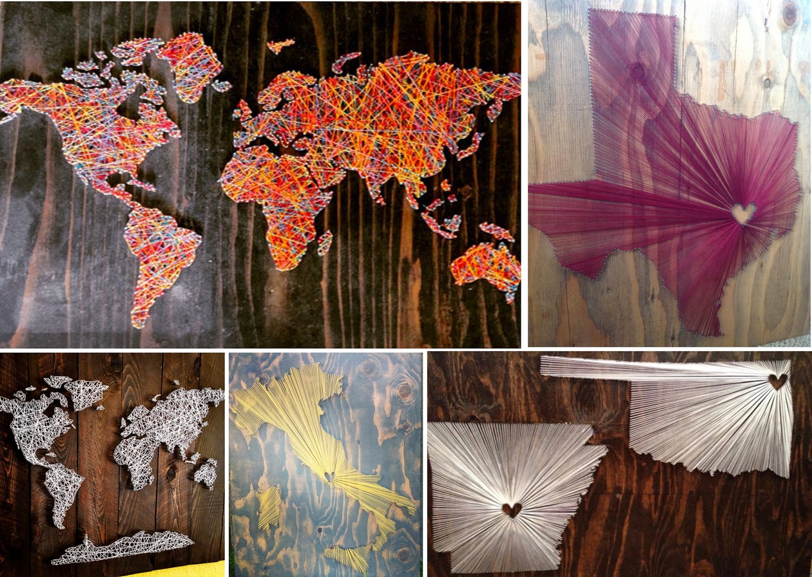 Diy world map string art home design to make a string art world map artists work is beau gran monde s shabby chic world map which as the name suggests gumiabroncs Choice Image
