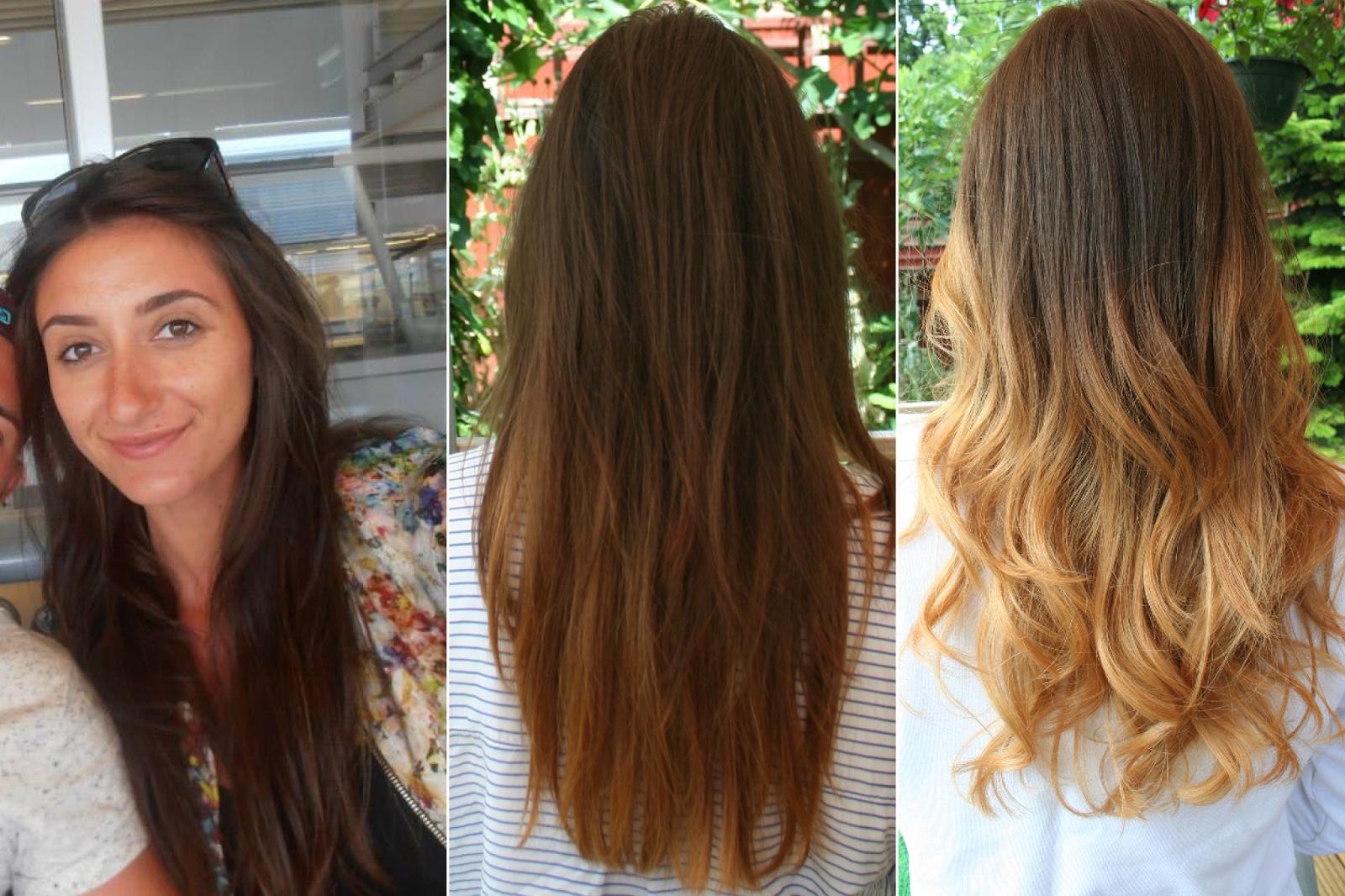 blonde tips on dark brown hair rachael edwards