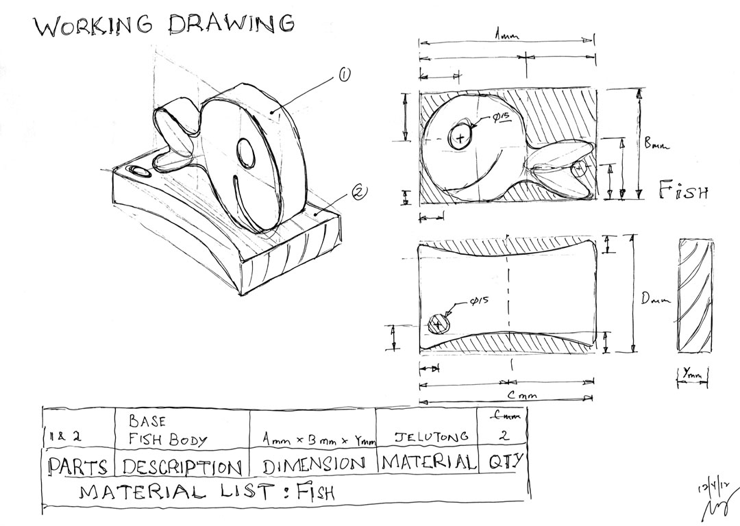 Working Drawing Holder Working Drawing